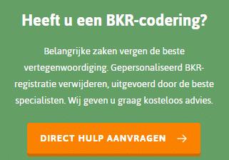 BKR registratie